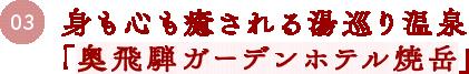 03 身も心も癒される湯巡り温泉「奥飛騨ガーデンホテル焼岳」