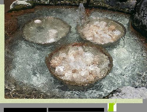 温泉につかって、ほどよく茹で上がったはんたいたまご