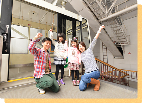 "We leave ""Shin-Hotaka Onsen Station"" in No.1 ropeway"