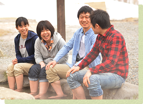 "Relax with your feet in ""footbath"" around the Shirakabadaira Station♪"