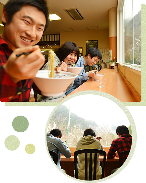 "Finally think back the pleasant day together in cafe ""Kasagatake"""