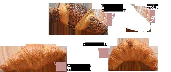 Croissant apple pie, bean jam croissant chocolate croissant