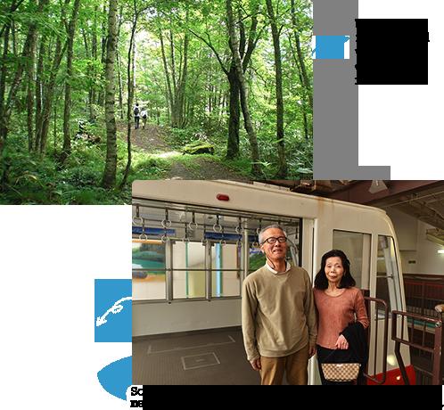 We leave by the refresh Japanese only 2-story gondola while enjoying Nature♪