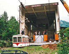 Work in Nabedairakogen Station (No.1 ropeway)