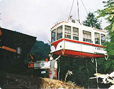 Disassembly of old gondola