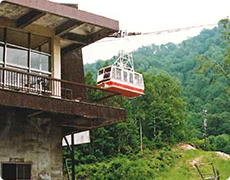 New gondola (No.2 ropeway) which leaves Shirakabadaira Station
