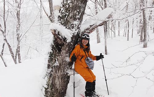 冬の鍋平高原で自然の「冬」を撮影