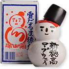 Snowman sake bottle