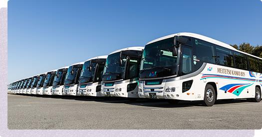 大型バスの駐車が可能