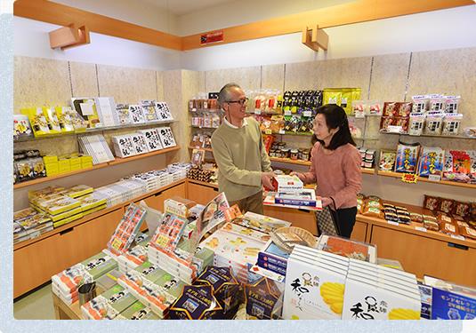 新穂高温泉駅 売店コーナー