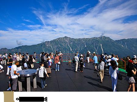 하루야마정역 전망대・여름의 산정 역 전망대・ 겨울에는 「에 시호 군」도 등장