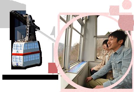 從纜車中,盡情享受非常漂亮的景色♪