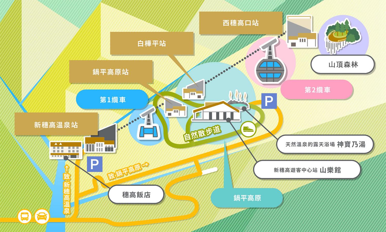 新穗高高空纜車地圖